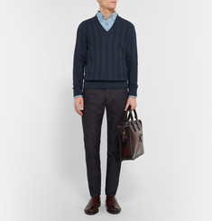 Berluti Cable-Knit Cotton and Cashmere-Blend Sweater