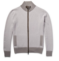 Berluti - Zip-Up Nubuck-Trimmed Cashmere Cardigan