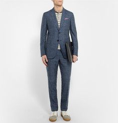 Berluti Blue Brera Slim-Fit Cashmere, Silk and Linen-Blend Suit