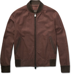 Berluti - Slim-Fit Nubuck Bomber Jacket