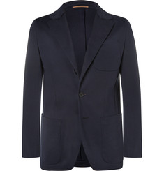 Berluti - Navy Slim-Fit Cotton-Jersey Blazer