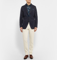Berluti Navy Slim-Fit Cotton-Jersey Blazer