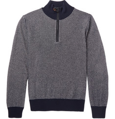 Berluti - Slim-Fit Half-Zip Leather-Trimmed Cashmere Sweater