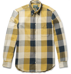 Gitman Vintage Button-Down Collar Checked Double-Faced Cotton-Flannel Shirt