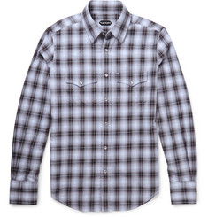 Tom Ford - Slim-Fit Western-Style Checked Cotton Shirt