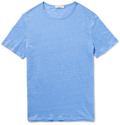 Onia Chad Mélange Knitted Linen T-Shirt