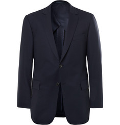 Gieves & Hawkes Navy Wool-Blend Suit Jacket