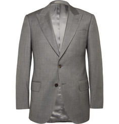 Gieves & Hawkes Grey Slim-Fit Sharkskin Wool Suit Jacket