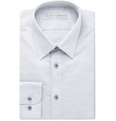 Gieves & Hawkes - Grey Slim-Fit Linen and Cotton-Blend Shirt