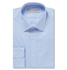 Gieves & Hawkes Blue Slim-Fit Cotton-Poplin Shirt