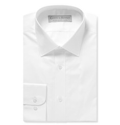 Gieves & Hawkes White Slim-Fit Cotton-Blend Poplin Shirt