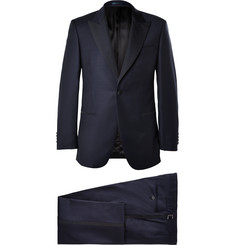 Gieves & Hawkes Midnight-Blue Faille-Trimmed Wool-Twill Tuxedo