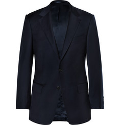 Gieves & Hawkes Navy Slim-Fit Wool-Twill Blazer