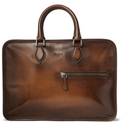 Berluti Un Jour Burnished Venezia Leather Briefcase