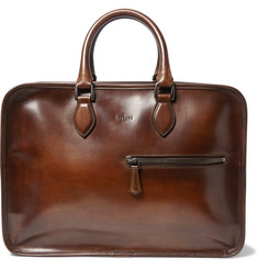 Berluti - Deux Jours Burnished-Leather Briefcase