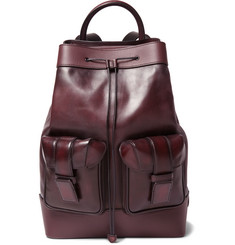 Berluti Horizon Panelled Polished-Leather Backpack