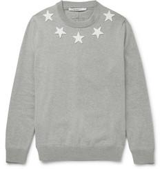 Givenchy - Star-Appliquéd Cotton Sweatshirt