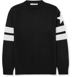 Givenchy - Slim-Fit Appliquéd Cotton Sweater