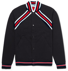 Givenchy Slim-Fit Stripe-Trimmed Cotton-Jersey Varsity Jacket