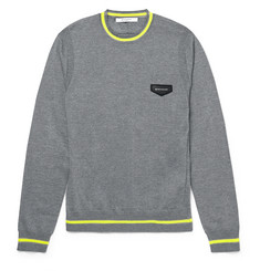 Givenchy Neon-Stripe Wool Sweater