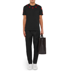 Givenchy Cuban-Fit Star-Appliqué Cotton-Jersey T-Shirt
