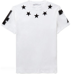 Givenchy - Cuban-Fit Star-Appliquéd Cotton-Jersey T-Shirt