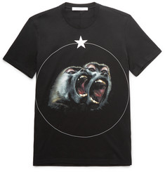 Givenchy - Cuban-Fit Printed Cotton-Jersey T-Shirt