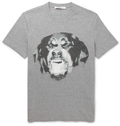 Givenchy Slim-Fit Embroidered Rottweiler Cotton T-Shirt