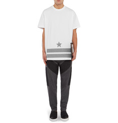 Givenchy Columbian-Fit Appliquéd Cotton-Jersey T-Shirt