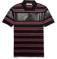 Givenchy - Cuban-Fit Striped Cotton-Piqué Polo Shirt