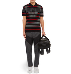 Givenchy Cuban-Fit Striped Cotton-Piqué Polo Shirt