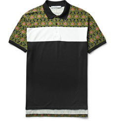 Givenchy Columbian-Fit Panelled Cotton Polo Shirt
