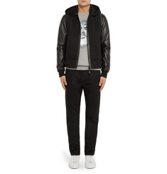 Givenchy Slim-Fit Leather and Neoprene Hooded Jacket
