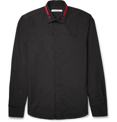 Givenchy - Slim-Fit Embroidered Cotton-Poplin Shirt