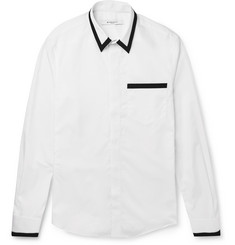 Givenchy - Contrast-Trimmed Cotton-Poplin Shirt