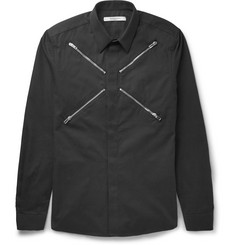 Givenchy - Slim-Fit Zip-Detailed Cotton Shirt