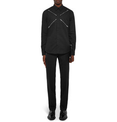 Givenchy Slim-Fit Zip-Detailed Cotton Shirt