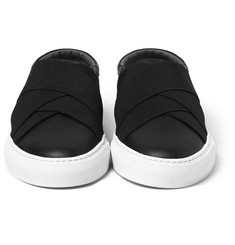 Givenchy - Elasticated-Strap Leather Slip-On Sneakers