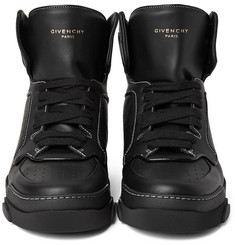 Givenchy - Tyson Leather High-Top Sneakers