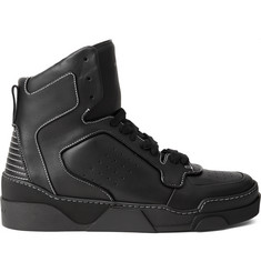 Givenchy Tyson Leather High-Top Sneakers