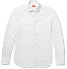 Isaia - Slim-Fit Pin-Dot Cotton Shirt
