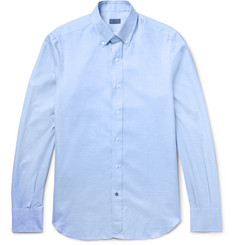 Isaia Slim-Fit Button-Down Collar Cotton Shirt