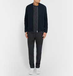 Folk Slim-Fit Waffled Cotton-Jersey Jacket