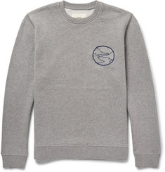 Folk Mélange Cotton-Jersey Sweatshirt