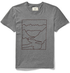 Folk - Slim-Fit Mountain-Print Cotton-Jersey T-Shirt