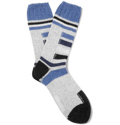 Folk Wool-Blend Ski Socks