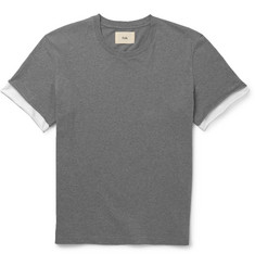 Folk - Contrast-Sleeve Cotton-Jersey T-Shirt