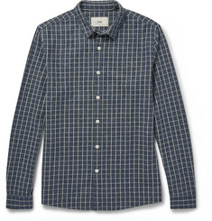 Folk - Slim-Fit Checked Cotton-Flannel Shirt