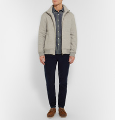 Folk Slim-Fit Checked Cotton-Flannel Shirt
