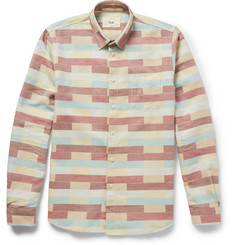 Folk Stack Block-Print Cotton Shirt